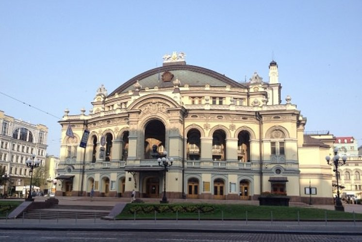 دار الأوبرا الوطنية في مدينة كييف