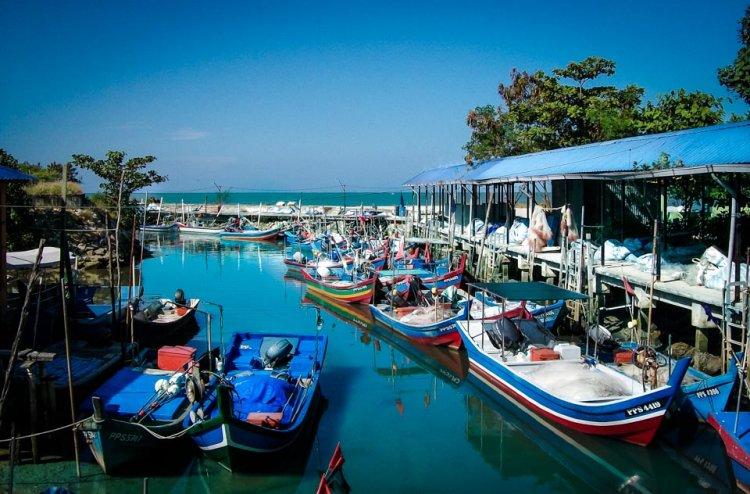 ساحل الزوارق فى مدينة جورج تاون