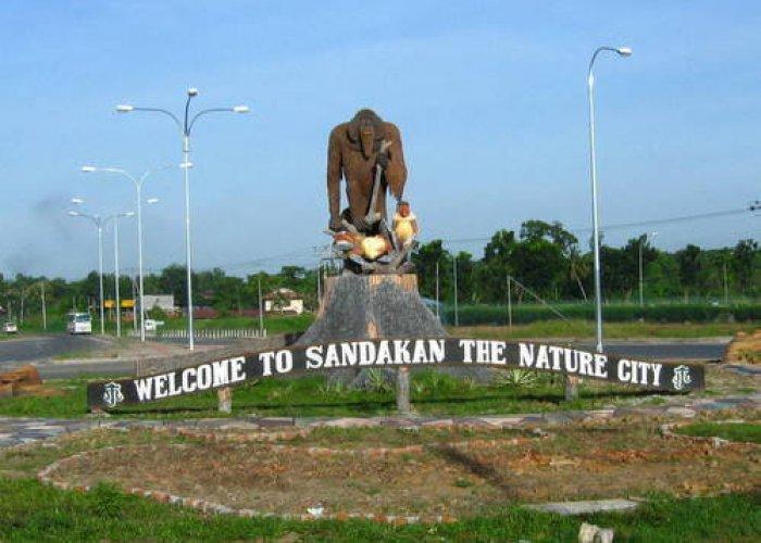 النصب التذكاري في مدينة سانداكان ماليزيا