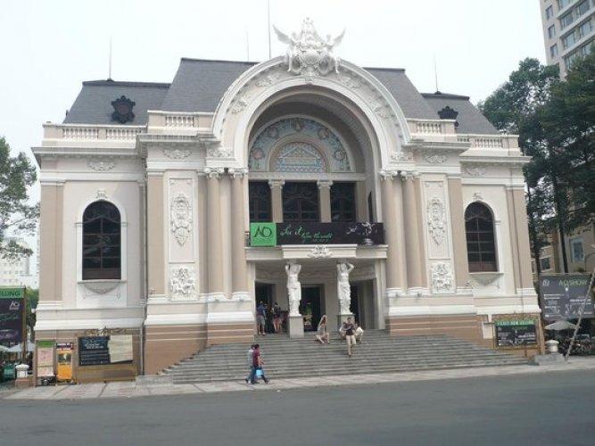 دار اوبرا سايغون في مدينة هو تشي منه