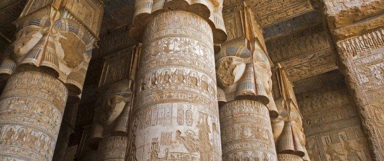 واجهة معبد دندرة الرائعة قطعة من الجمال