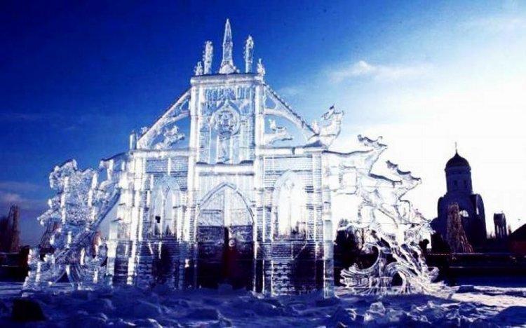معرض منحوتات الثلج في موسكو