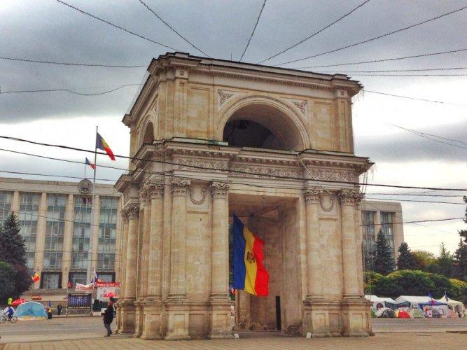 قوس النصر في تشيسيناو مولدافيا