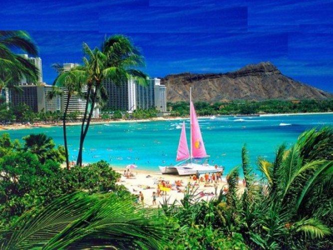 الرمال البيضاء في هاواي
