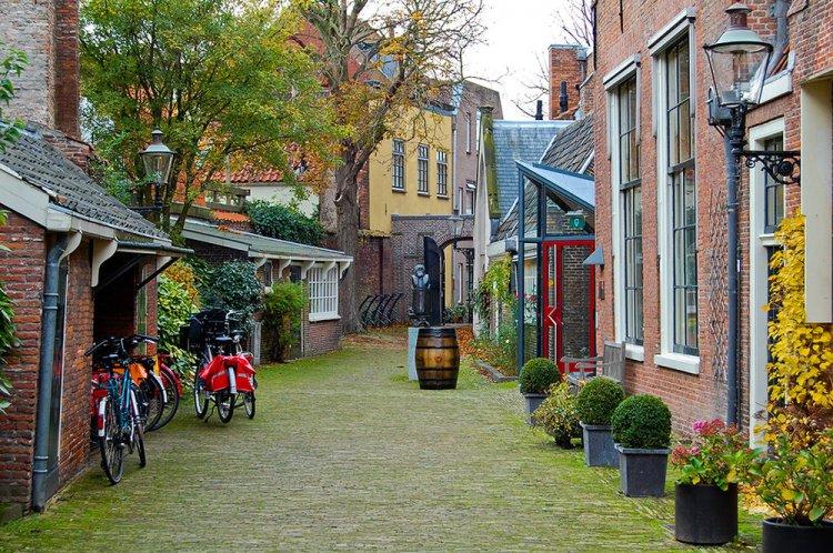 شوارع مدينة هارلم في هولندا