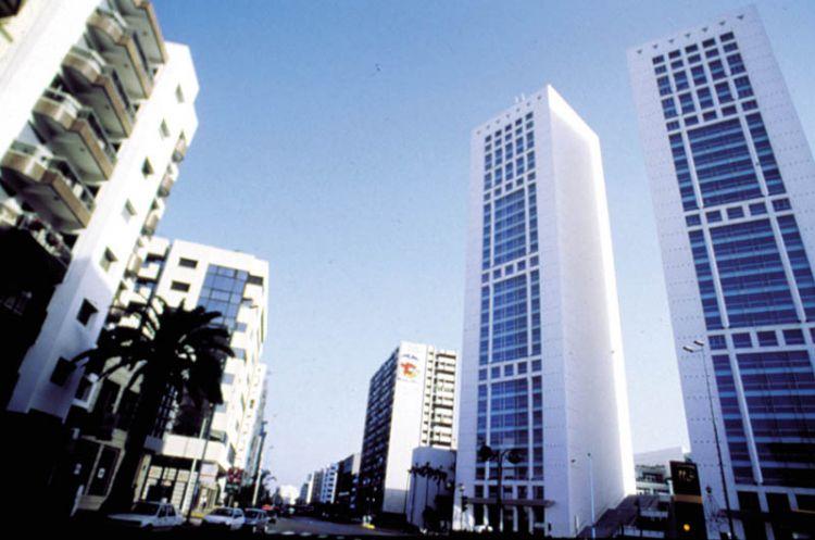 البرج التوأم في الدار البيضاء - المغرب