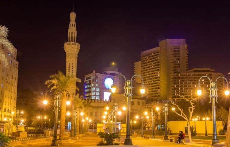 ميدان التحرير بالليل