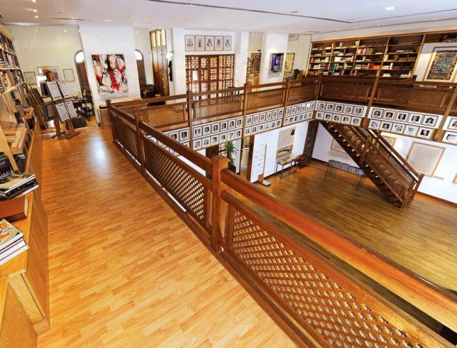 مركز الشيخ إبراهيم بن محمد الثقافي من الداخل