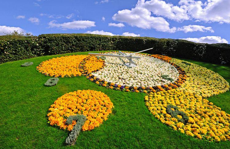 ساعة الزهور في جنيف