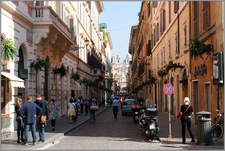 شارع كوندوتي في روما - ايطاليا