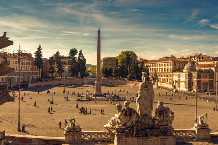 ساحة بوبولو في روما - ايطاليا