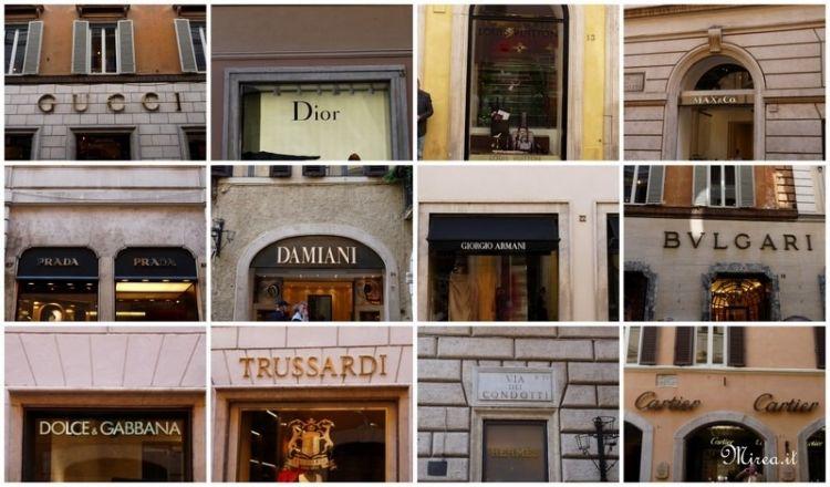 محلات ومقاهى شارع كوندوتي في روما - ايطاليا