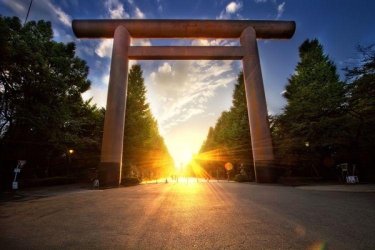 معبد شنتو في طوكيو - اليابان