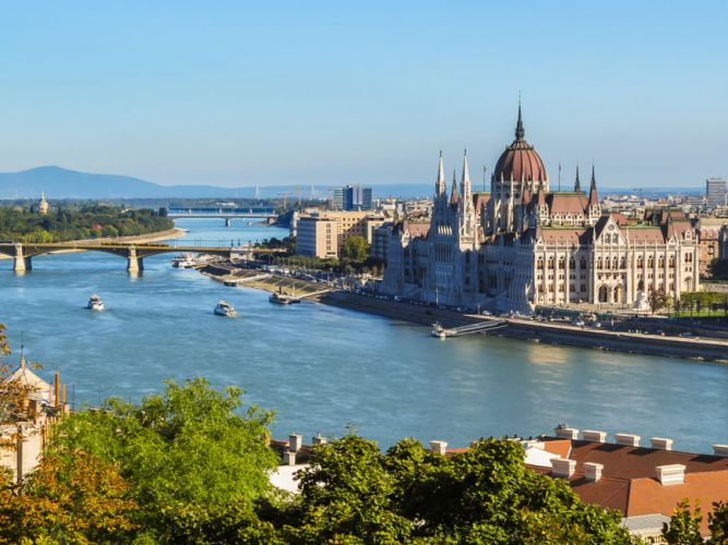The old Danube in Vienna