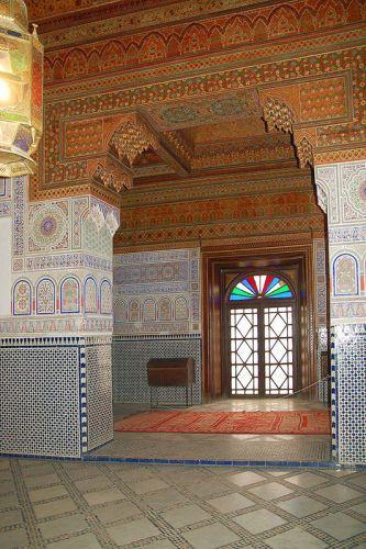 داخل قصر الباهية في مراكش