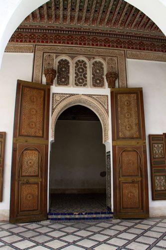 مدخل قصر الباهية في مراكش - المغرب