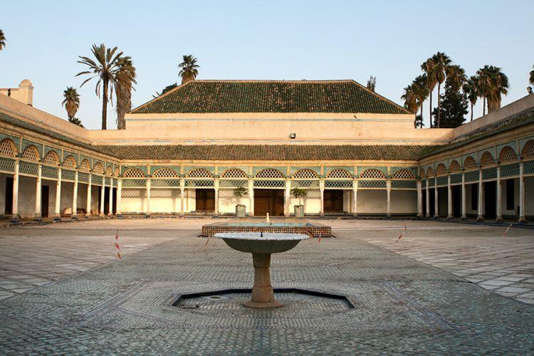 فناء قصر الباهية في مراكش