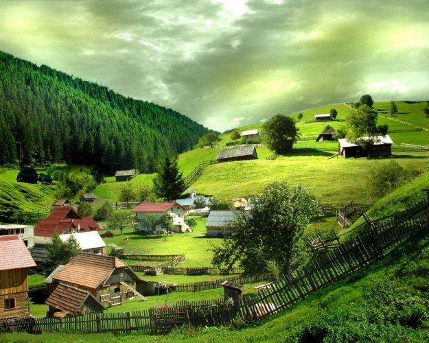 قرية في رومانيا