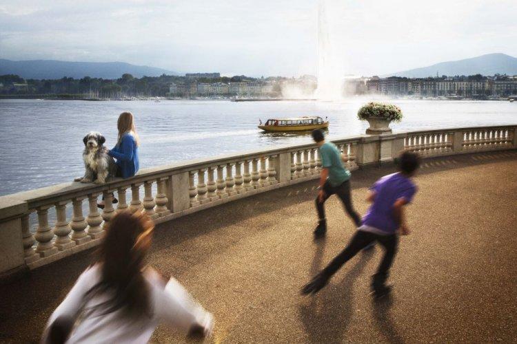 Geneva's lake shore