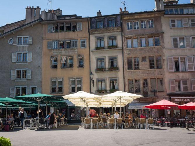 Terrace in Geneva's Old Town