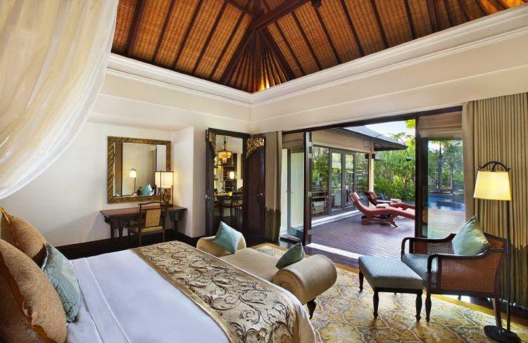 The St. Regis Bali Lagoon Villa Bedroom