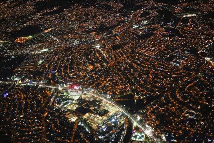 منظر مكسيكو وقد صورت من الطائرة
