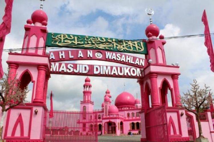 مدخل المسجد الوردي في الفليبين