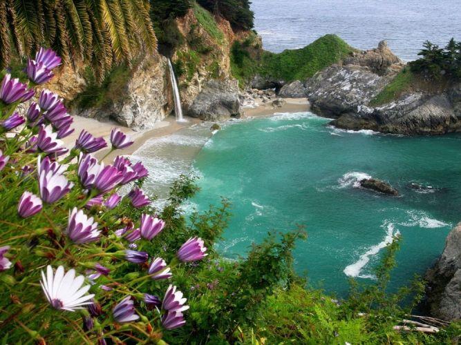 شلالات McWay ،Big Sur كاليفورنيا