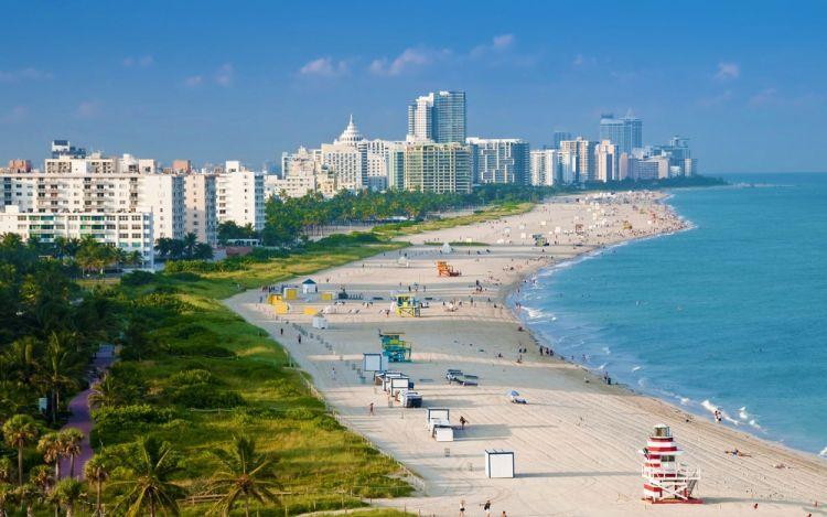 شواطىء مدينة ميامي
