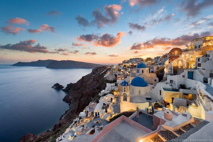 جزيرة سانتوري في اليونان