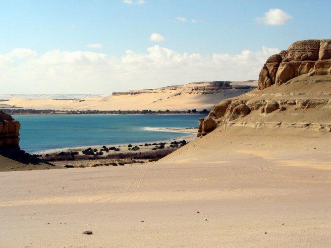 بحيرة قارون في محافظة الفيوم