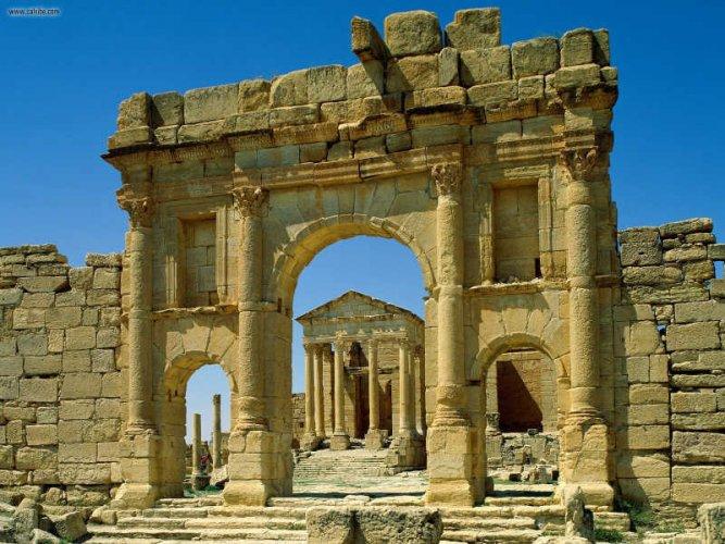 الآثار الرومانية في تونس