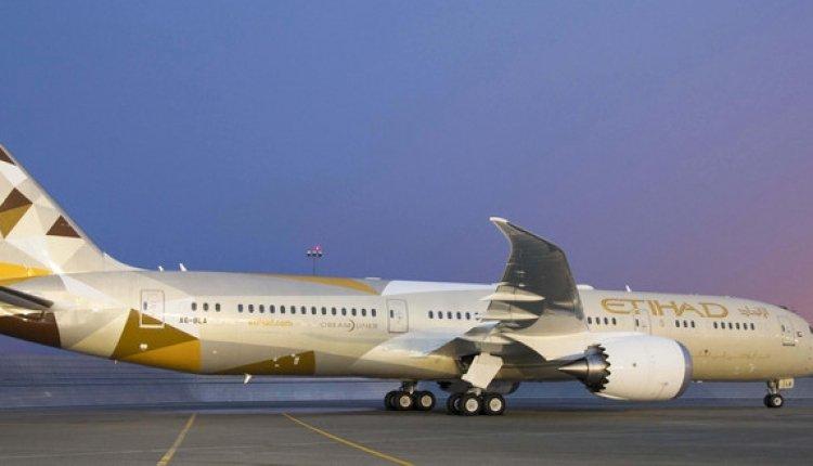 طائرة الاتحاد للطيران بوينغ 787-9 دريملاينر تباشر رحلاتها الي بكين