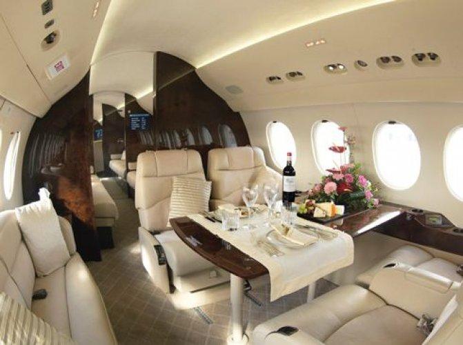من داخل طائرة رئاسية
