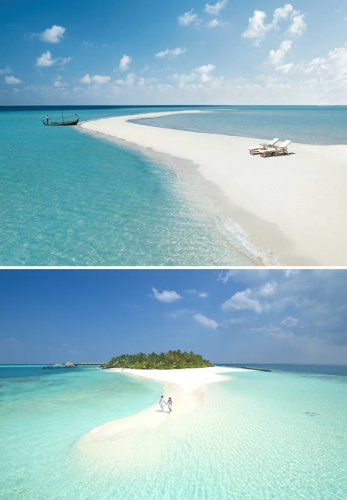 ممشى طبيعي في جزر المالديف