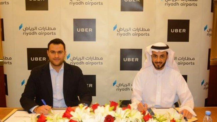 توقيع اتفاقية بين مطارات الرياض واوبر لنقل الركاب من مطار الملك خالد الدولي