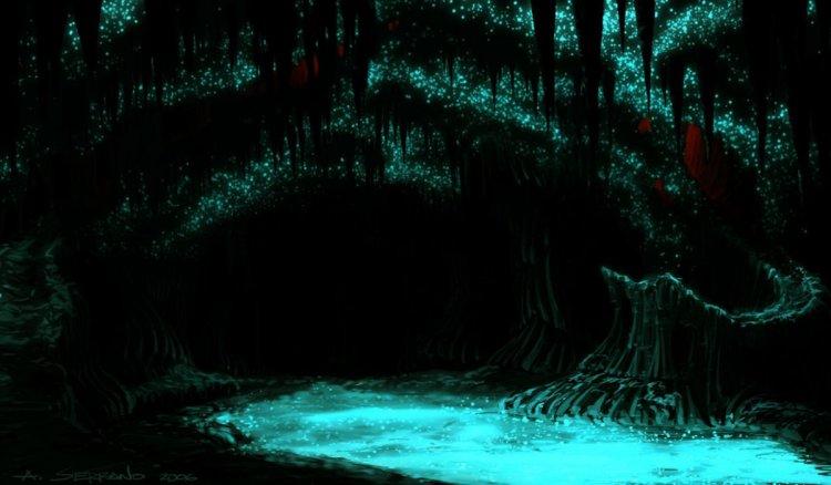 مجرى مائي رائع داخل كهوف ويتومو