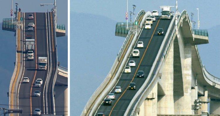 اخطر جسر للسيارات في العالم