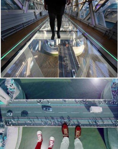 برج جسر الزجاج في انجلترا