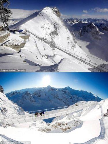 ممشى تيتلس كليف في جبال الألب السويسرية