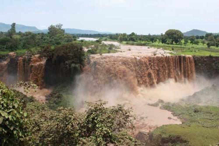 شلالات النيل الازرق