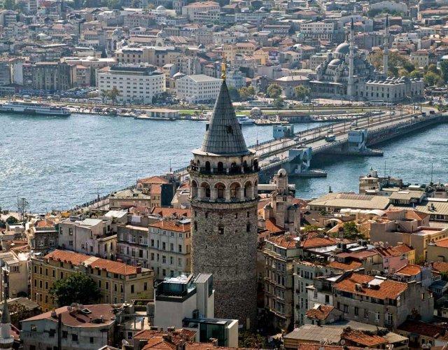 صورة بانورامية لبرج غلطة في اسطنبول