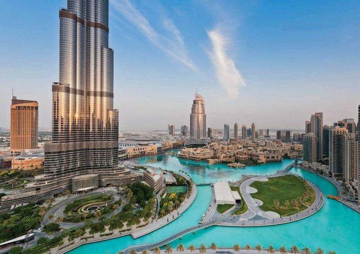 حديقة برج خليفة في دبي