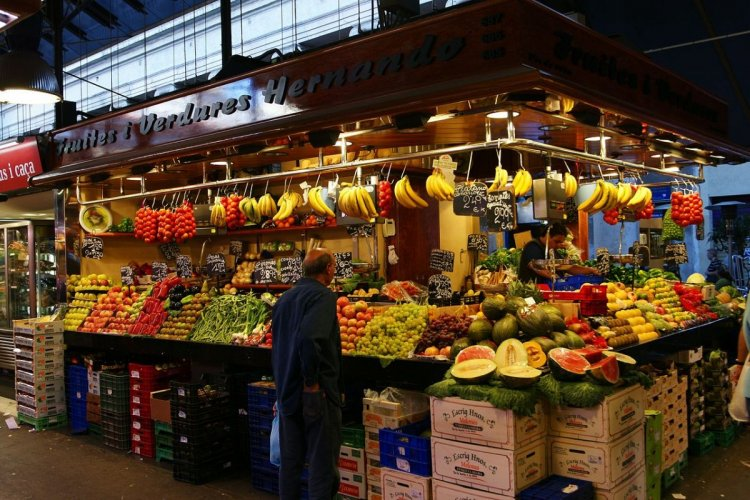 سوق لابوكاريا في برشلونة