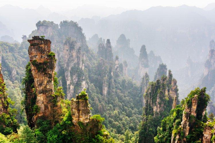جبال تيانزي في الصين