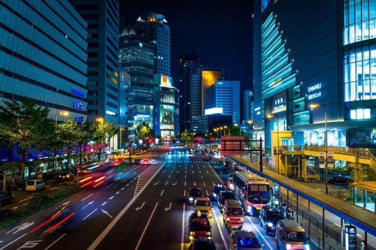احدي شوارع اليابان