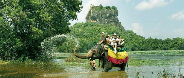 ركوب الافيال في سريلانكا