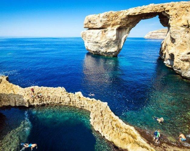 المعالم الطبيعية بجزيرة مالطا