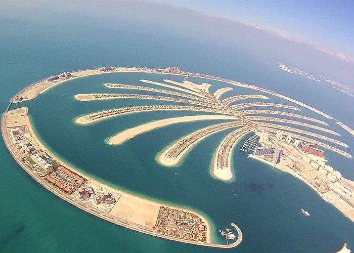 جزيرة النخيل فى دبي