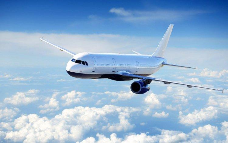 طائرة في السماء